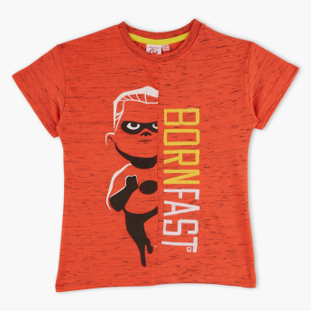 The Incredibles Printed Round Neck Short Sleeves T-Shirt