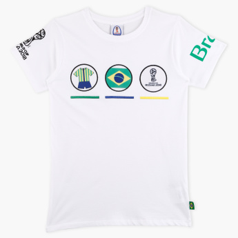 FIFA 18 Russia Printed Short Sleeves T-Shirt