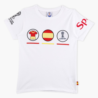 FIFA 18 Spain Printed Round Neck T-Shirt