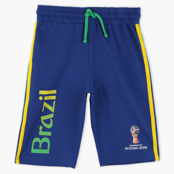 FIFA 18 Brazil Printed Shorts with Elasticised Waistband