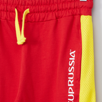 Juniors 2018 FIFA World Cup Panelled Shorts with Drawstring Waist