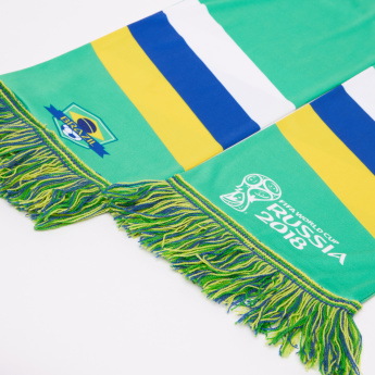 Juniors FIFA 18 Brazil Printed Scarf with Tassels