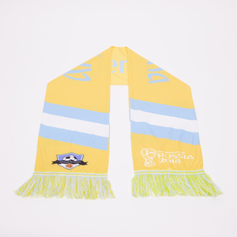 Juniors FIFA 18 Argentina Printed Scarf with Tassels