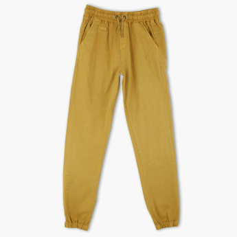 Posh Full Length Jog Pants with Elasticised Waistband and Drawstring