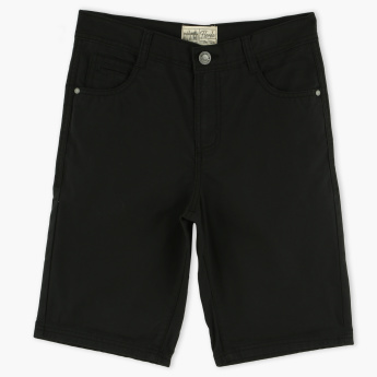 Posh Shorts with Button Closure and Pocket Detail