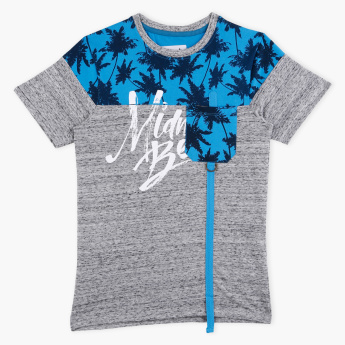 Posh Printed Round Neck Short Sleeves T-Shirt