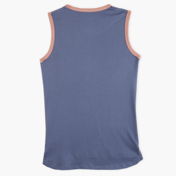 Posh Printed Round Neck Sleeveless T-Shirt