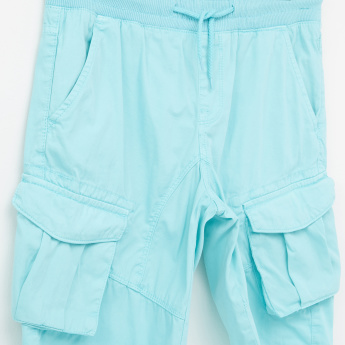 Posh Cargo Shorts with Elasticised Waistband and Drawstring