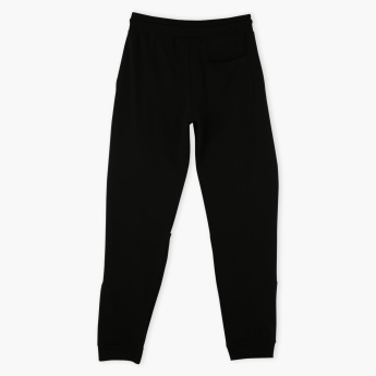 Juniors Textured Jog Pants with Elasticised Waistband