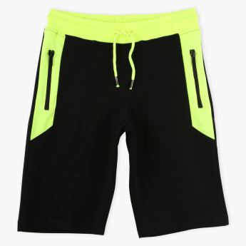 Juniors Bermuda Shorts with Elasticised Waistband and Drawstring