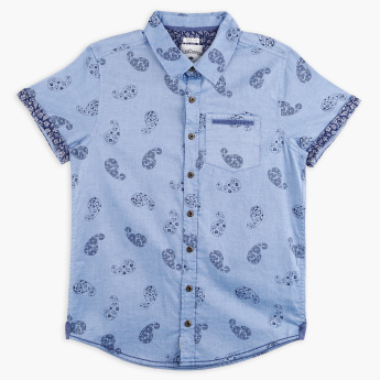 Lee Cooper Printed Short Sleeves Shirt