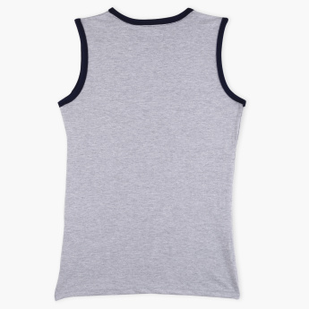Lee Cooper Printed Sleeveless T-Shirt