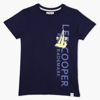 Lee Cooper Printed Round Neck Short Sleeves T-Shirt