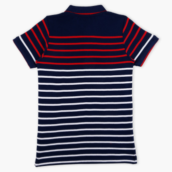 Lee Cooper Striped Polo Neck T-Shirt