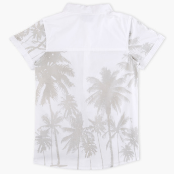MAUI and Sons Printed Shirt with Short Sleeves