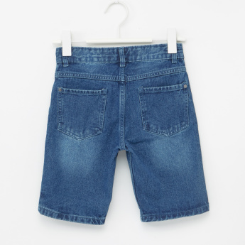 MAUI and Sons Pocket Detail Denim Shorts with Button Closure