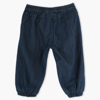 Juniors Denim Jog Pants with Elasticised Waistband