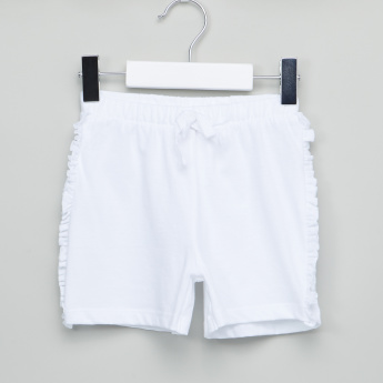 Juniors Ruffle Detail Shorts with Elasticised Waistband