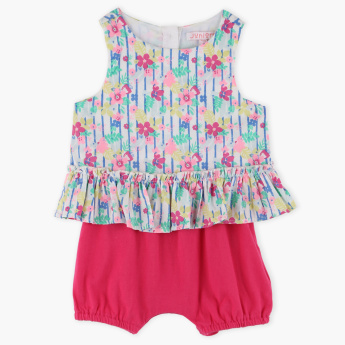 Juniors Printed Romper