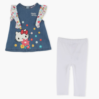 Hello Kitty Printed Tunic with Leggings