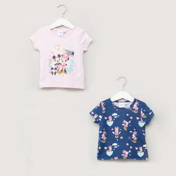 5aabf7272701 Mickey and Minnie Mouse Printed Short Sleeves T-Shirt - Set of 2 | Tops |  Girls Clothing | Clothing | Online Shopping at Centrepoint