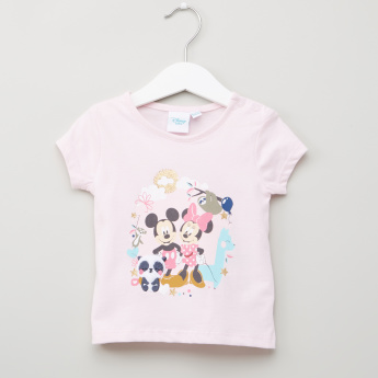 c1bb8ce4a058 Mickey and Minnie Mouse Printed Short Sleeves T-Shirt - Set of 2 ...