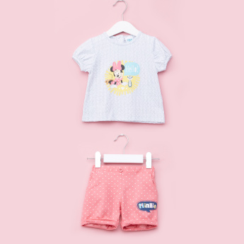 Minnie Mouse Printed Top with Shorts