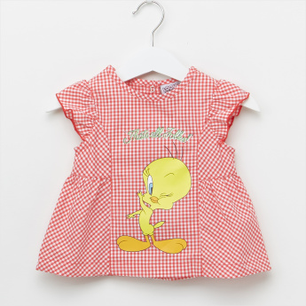 Tweety Printed Top with Button Closure