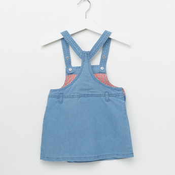 Tweety Printed Denim Dungarees