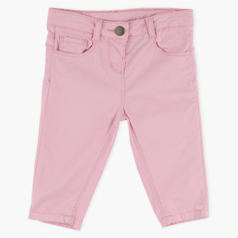 Juniors 3/4 Pants with Button Closure