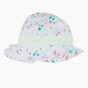 Eligo Printed Hat with Bow Applique