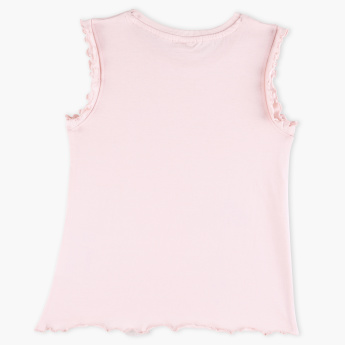Juniors Round Neck Sleeveless Top