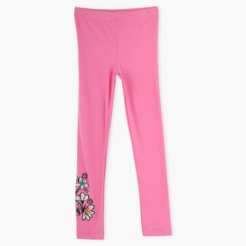 Juniors Embroidered Leggings with Elasticised Waistband