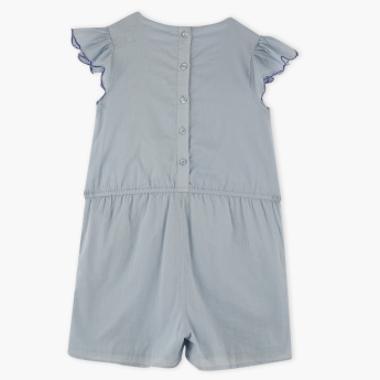 Juniors Embroidered Playsuit