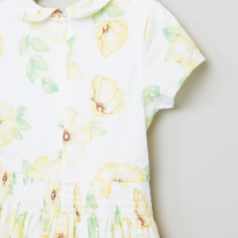 Eligo Floral Printed Peter Pan Collar Dress