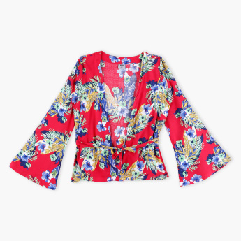 Posh Printed Long Sleeves Kaftan Jacket