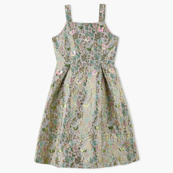 Posh Jacquard Sleeveless Dress