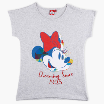 Minnie Mouse Printed Extended Sleeves T-Shirt