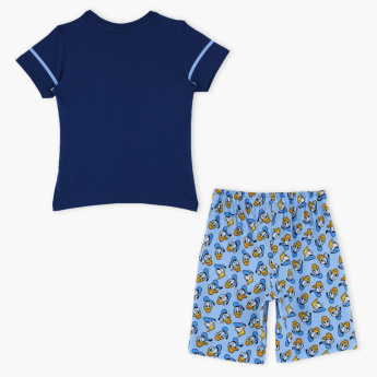 Donald Duck Printed T-Shirt with Shorts