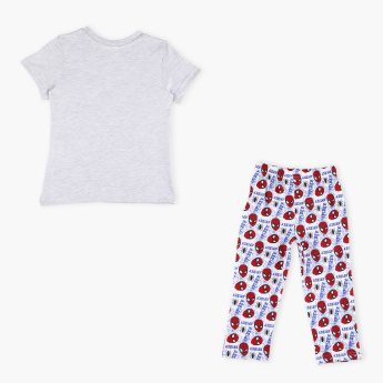 Spider-Man Printed T-Shirt and Pyjama Set