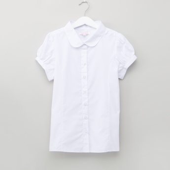 Juniors Short Sleeves Shirt with Button Closure