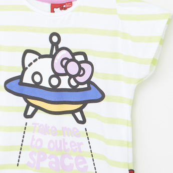 Hello Kitty Printed T-Shirt with Pants