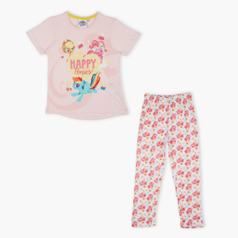 My Little Pony Printed T-Shirt with Pants