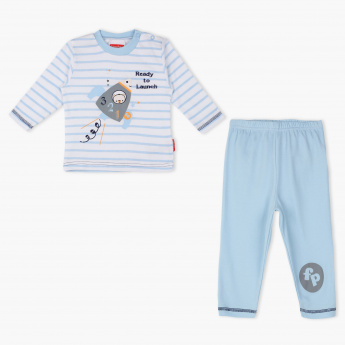 Fisher-Price Printed T-Shirt and Pyjama Set
