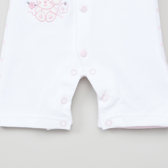 Juniors Bunny Embroidered Romper