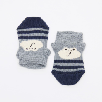 Juniors Striped 3D Socks