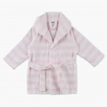 Juniors Striped Hooded Bathrobe