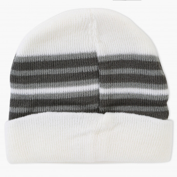 Juniors Striped Beanie Cap