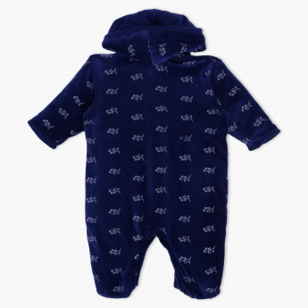 Juniors Printed Sleepsuit with Hood