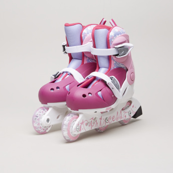 Juniors Printed 3-Wheel Inline Skate with Adjustable Straps